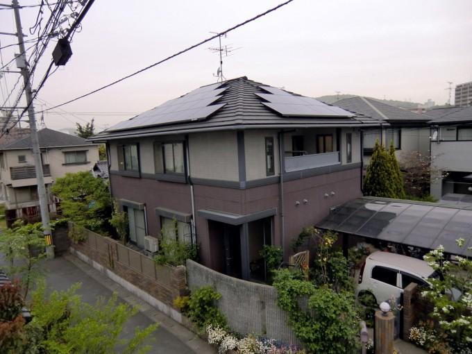 太陽光 岡山市北区 O邸 2011.5 写真