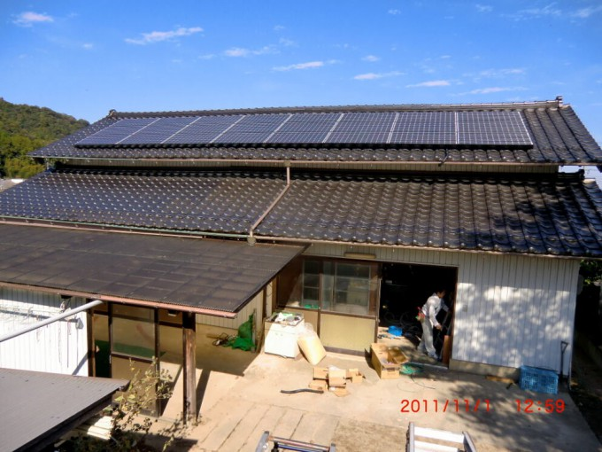 太陽光 島根県出雲市美談 S邸 2011.10 写真