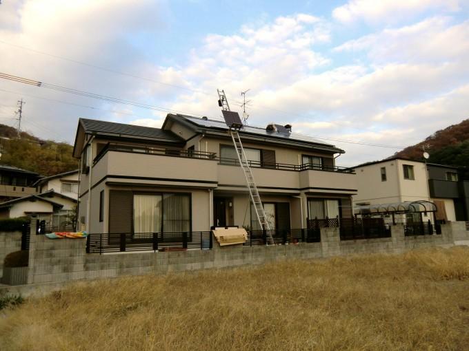 太陽光 岡山市東区目黒町 M様邸 2011.12 写真