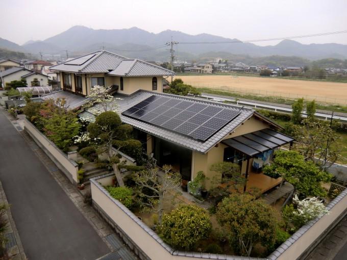 太陽光発電 玉野市山田 M邸 2012.4 写真