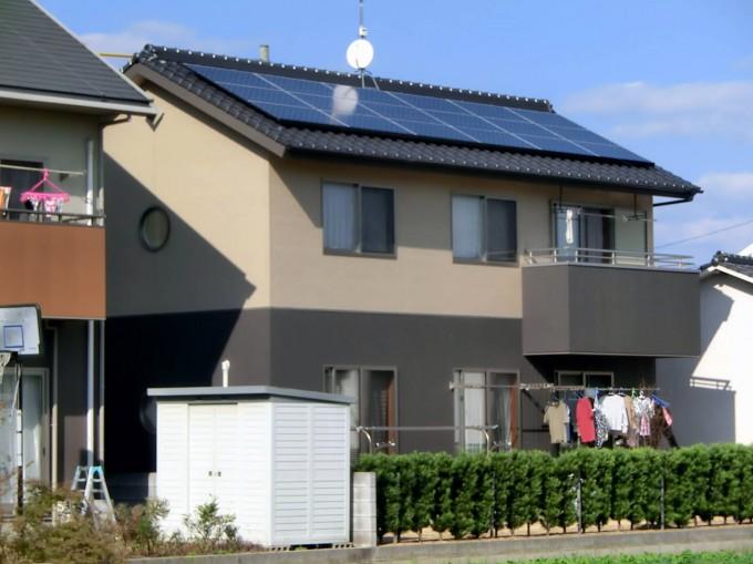 太陽光発電 倉敷市上富井 M邸 写真