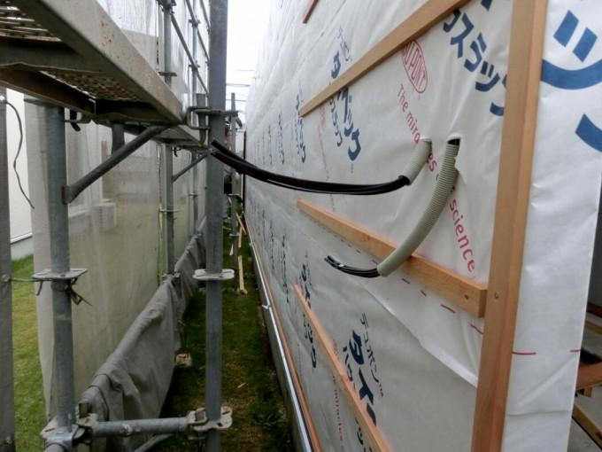 外壁 サイディング張り工事 岡山市中区 施工前