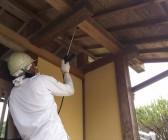 木製の門 洗浄