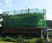 コロニアル屋根塗装工事 足場 島根県益田市