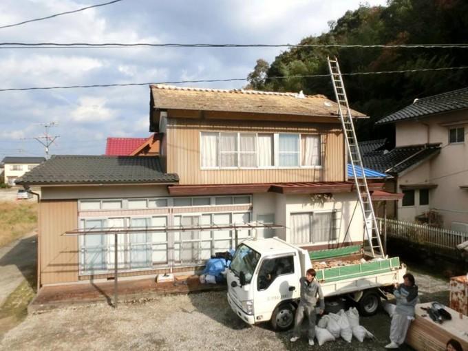屋根葺き替え工事 松江市  施工前