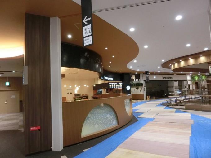 イオンモール広島府中3F厨房床の防滑工事(滑り止め)  写真