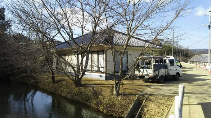 外壁塗装工事 公民館 岡山市北区  写真