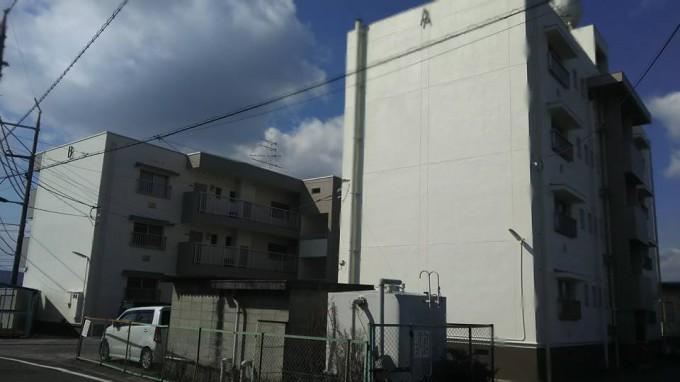 外壁塗装工事 倉敷市 公務員宿舎 写真