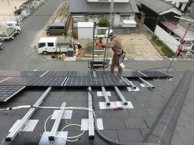 太陽光発電工事 岡山市北区 S様邸 写真