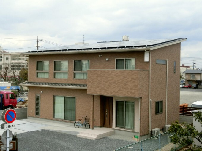 太陽光発電工事 岡山市北区 写真
