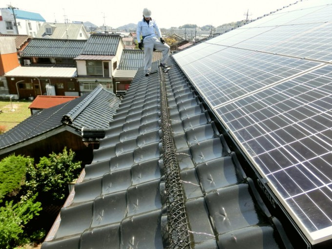 雪止め設置工事 M様 鳥取県米子市 写真