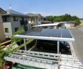 ガレージ屋根太陽光発電工事 S様 島根県出雲市斐川町